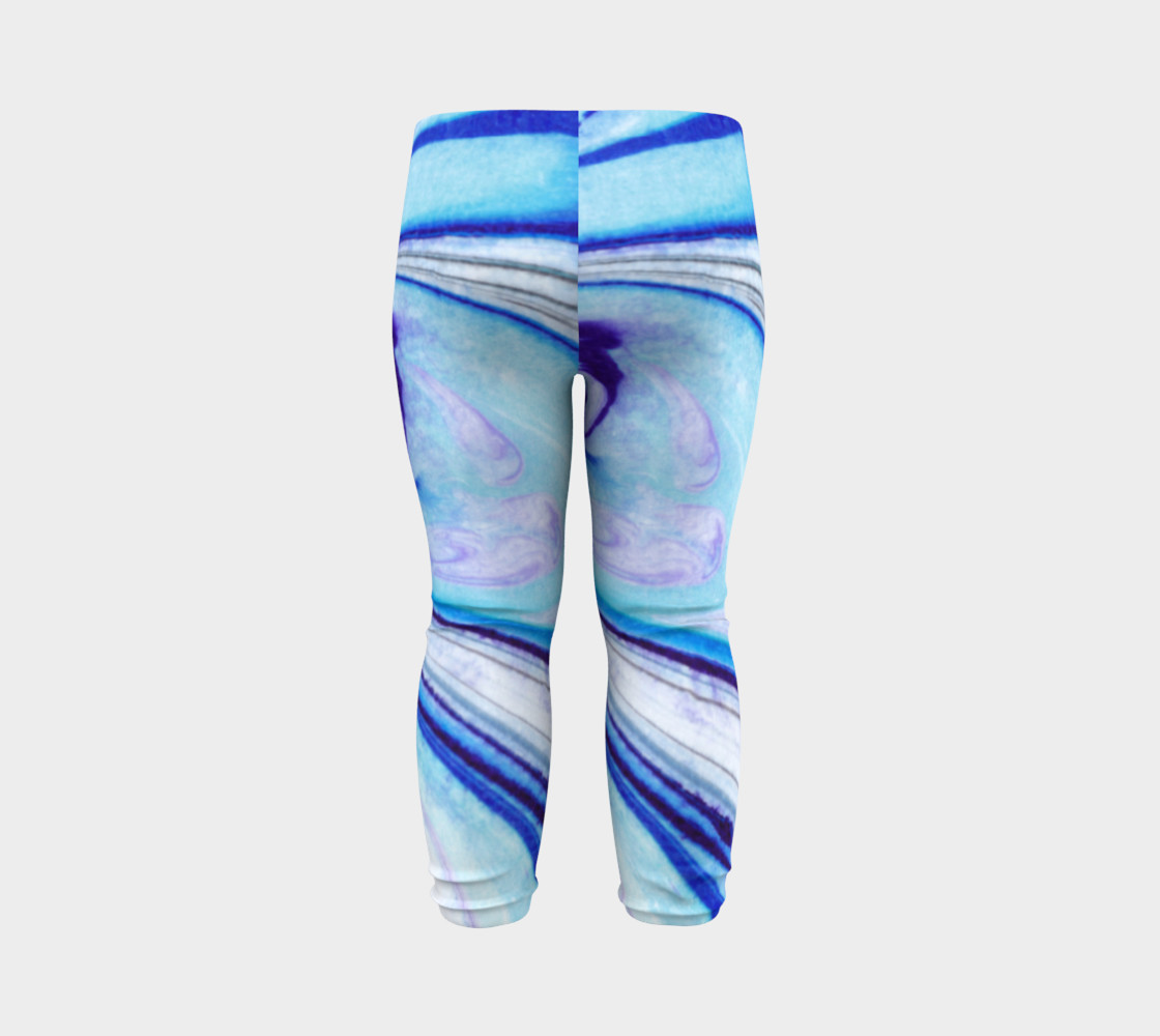 Blue Marble Abstract Pattern - Baby Leggings Miniature #8