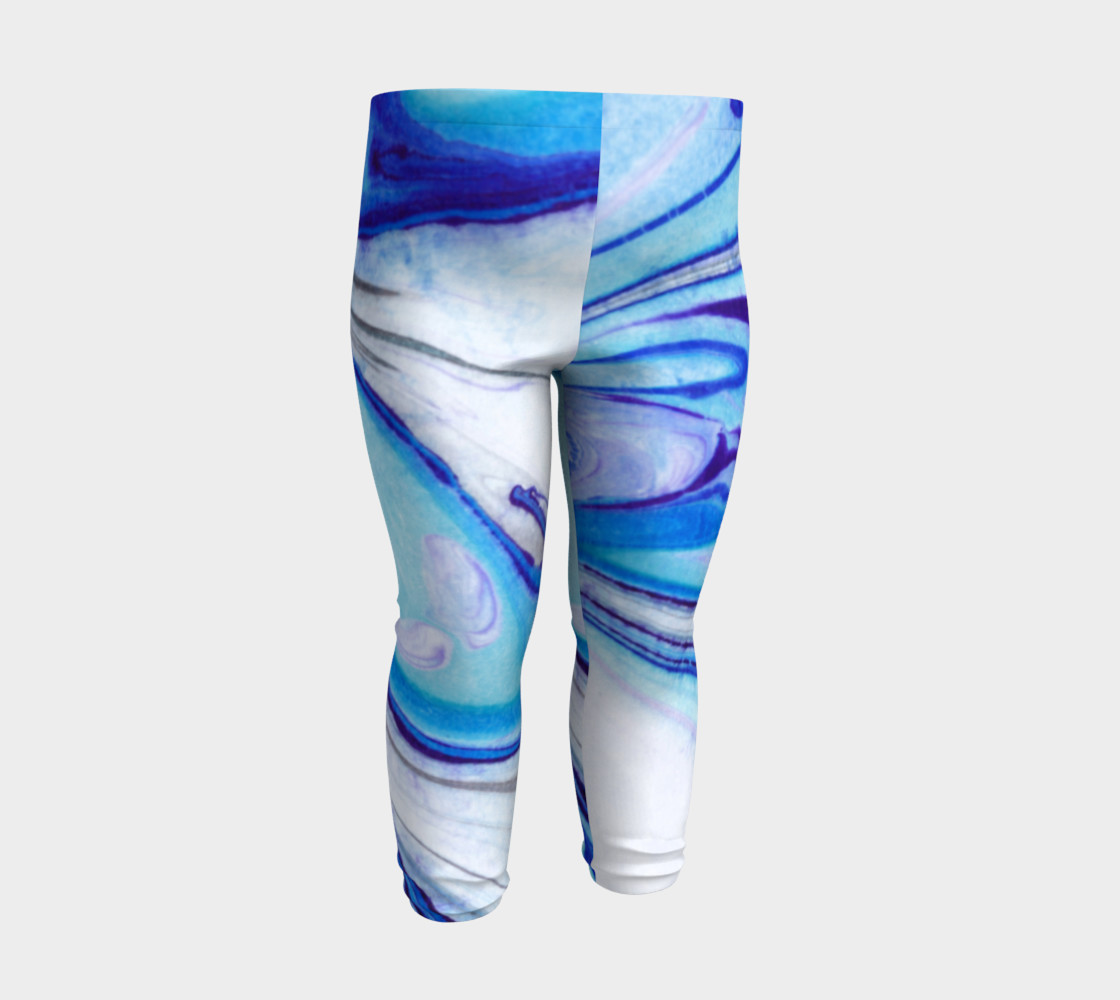 Blue Marble Abstract Pattern - Baby Leggings preview #3