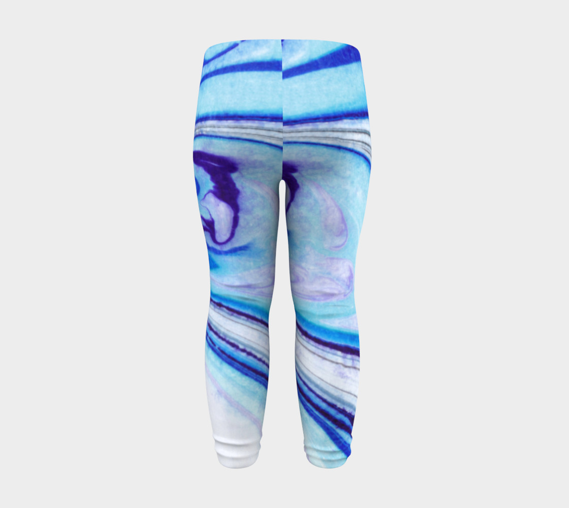 Blue Marble Abstract Pattern - Baby Leggings Miniature #9