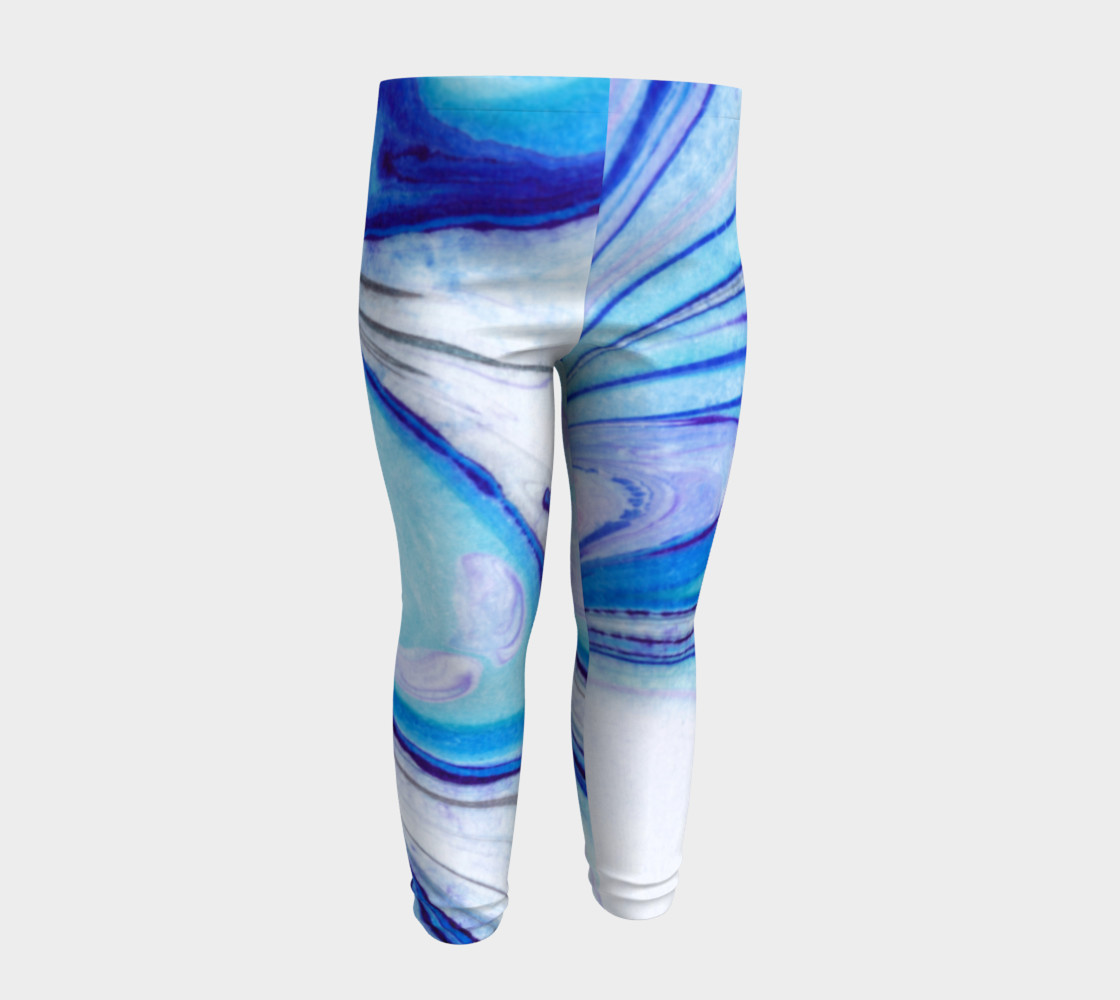 Blue Marble Abstract Pattern - Baby Leggings preview #4