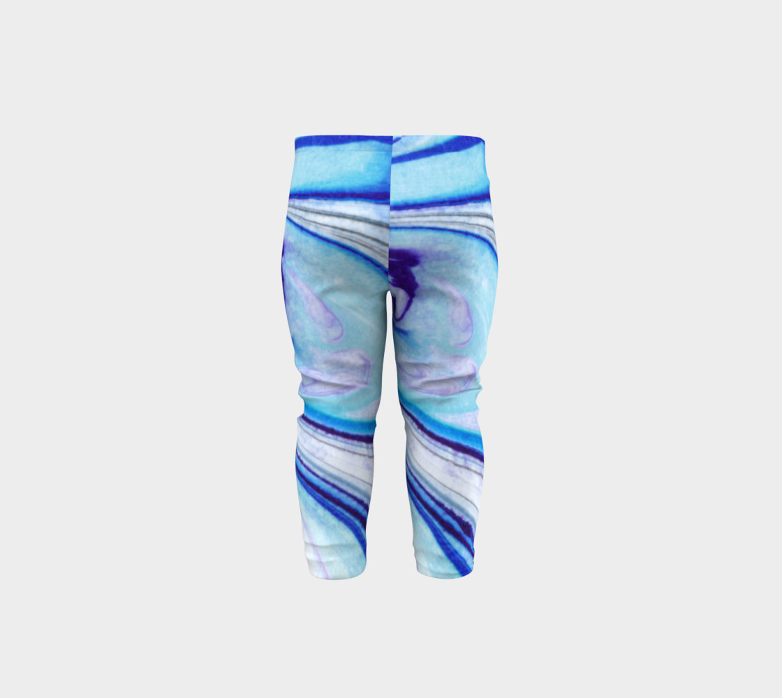 Blue Marble Abstract Pattern - Baby Leggings Miniature #6