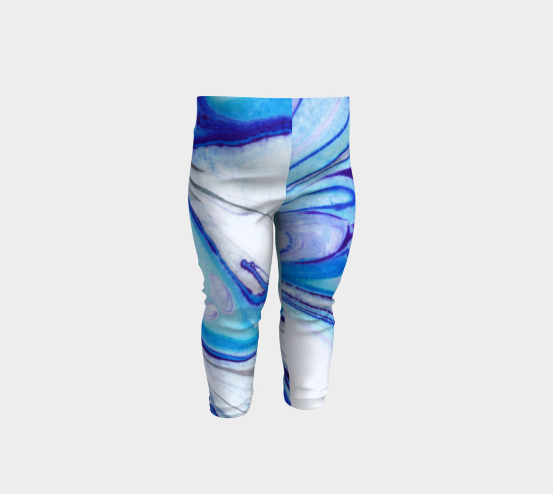 Blue Marble Abstract Pattern - Baby Leggings Miniature #2