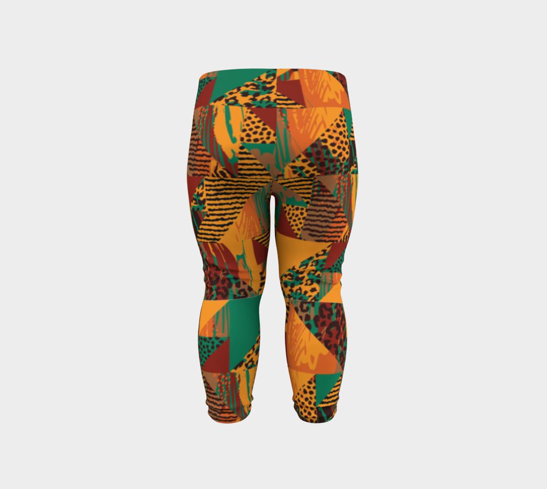 Abstract Safari Print Baby Leggings preview #6
