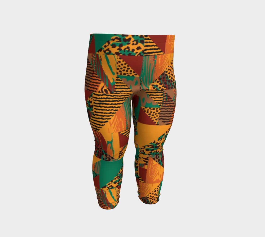 Abstract Safari Print Baby Leggings preview #2