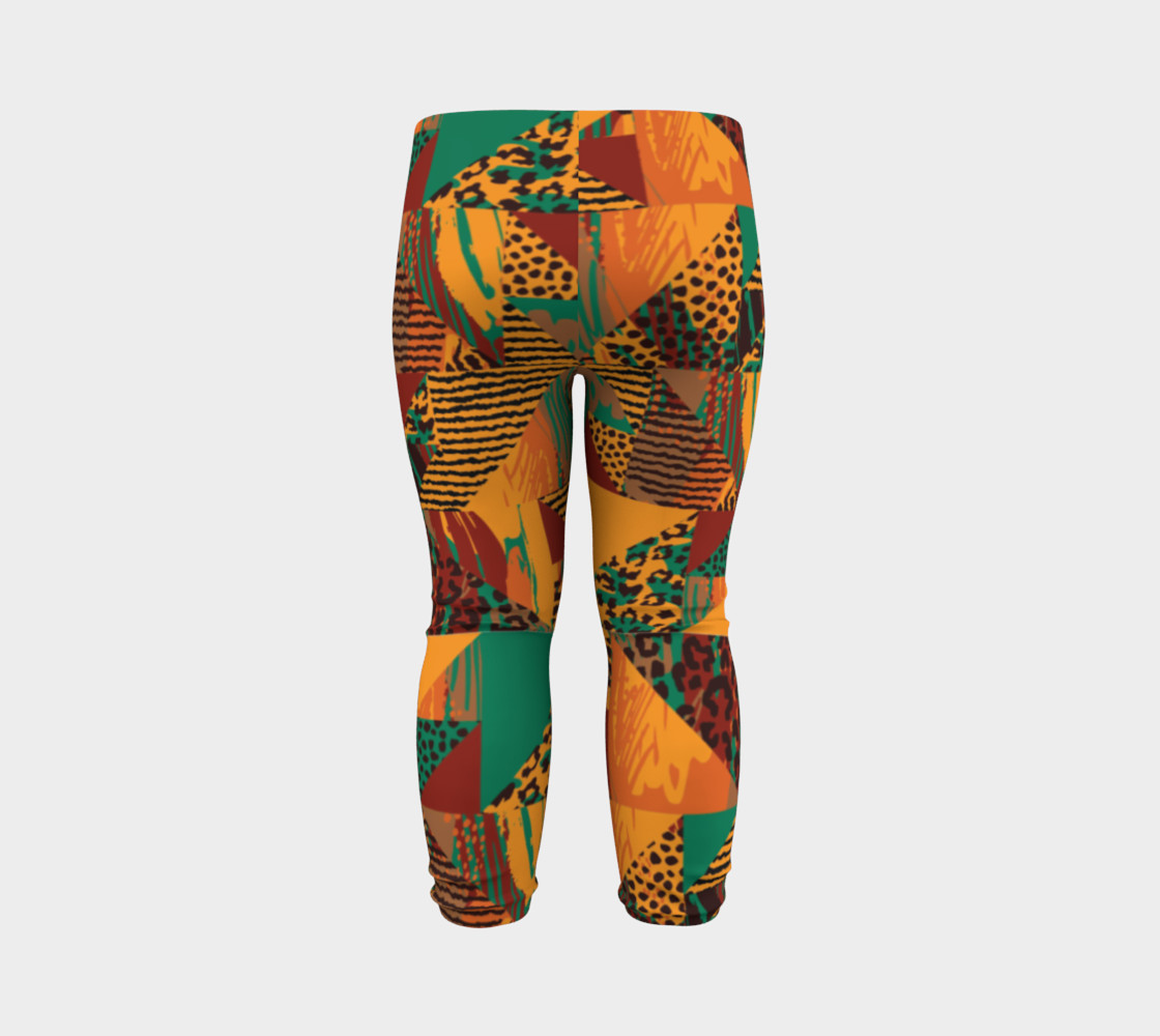 Abstract Safari Print Baby Leggings preview #7