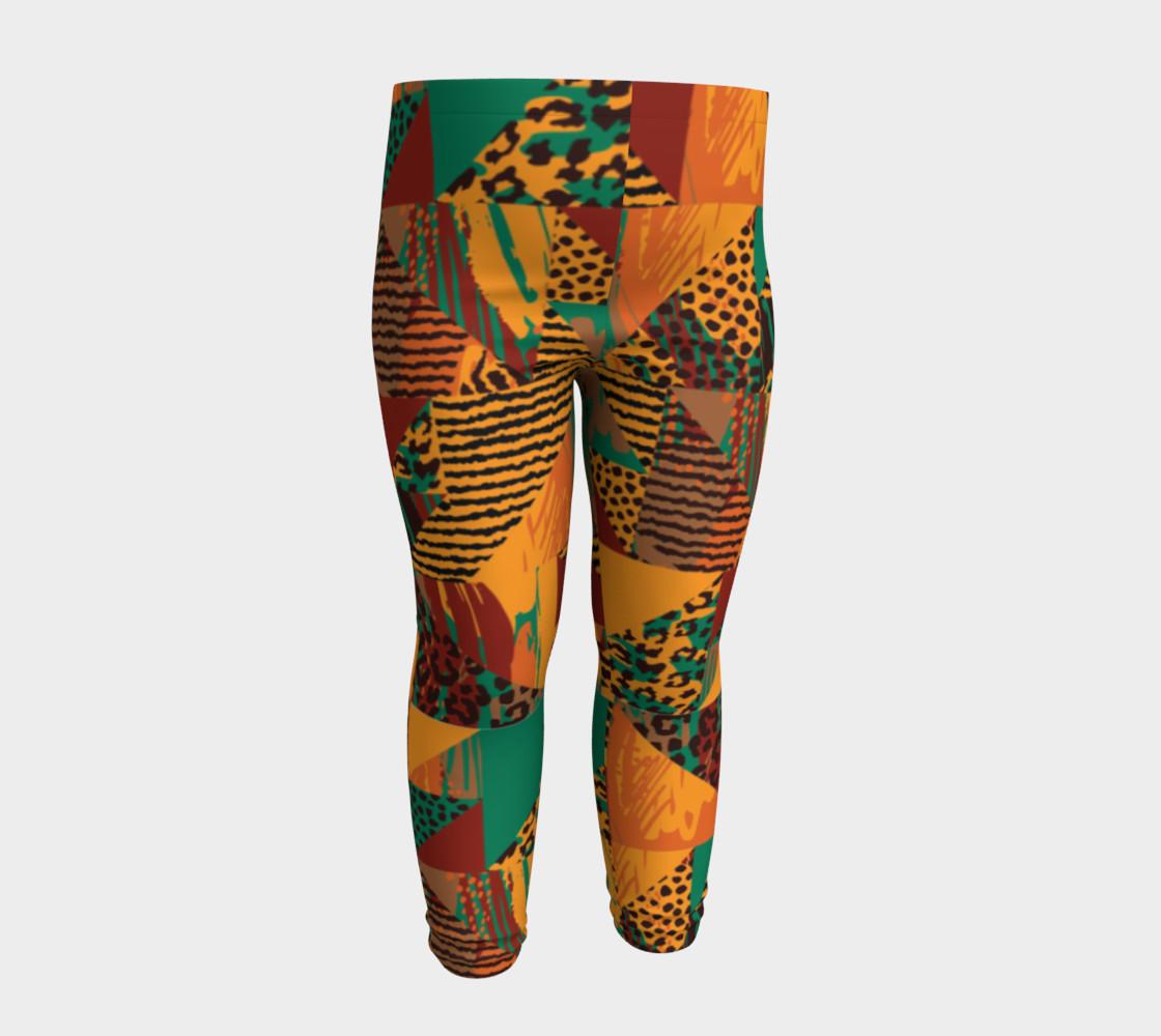 Abstract Safari Print Baby Leggings preview #4