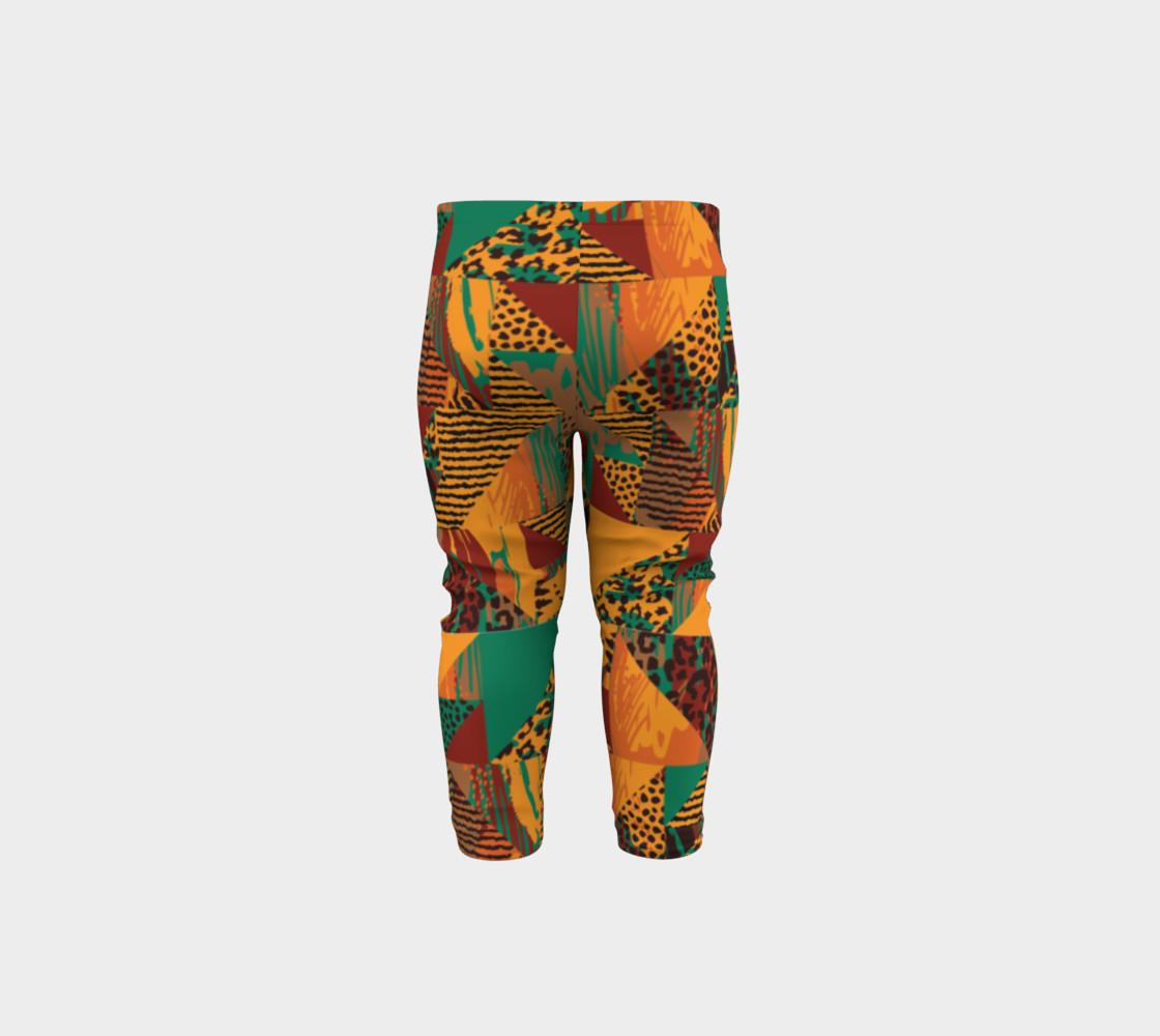 Abstract Safari Print Baby Leggings preview #5