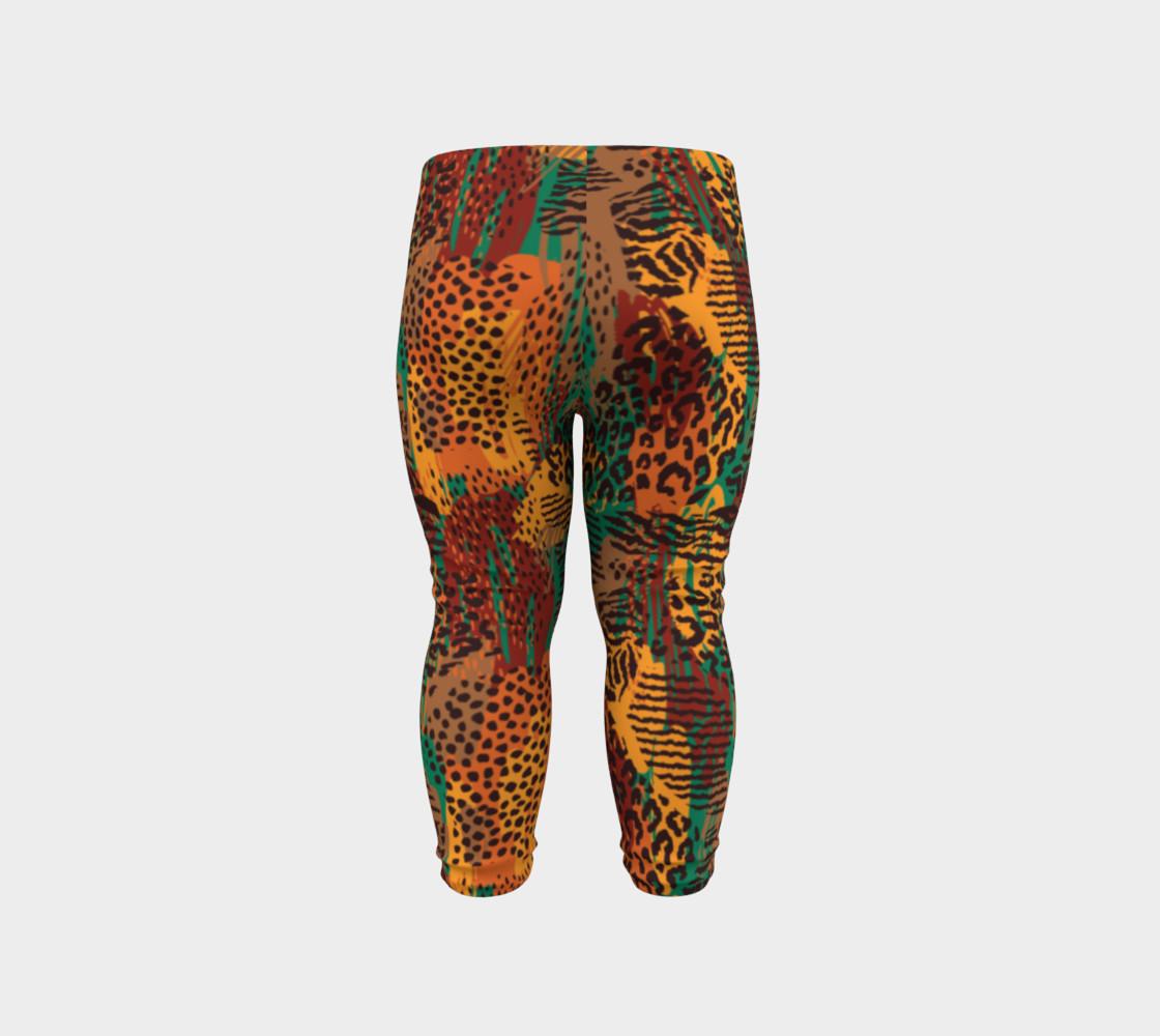 Safari Animal Print Mashup Baby Leggings preview #6