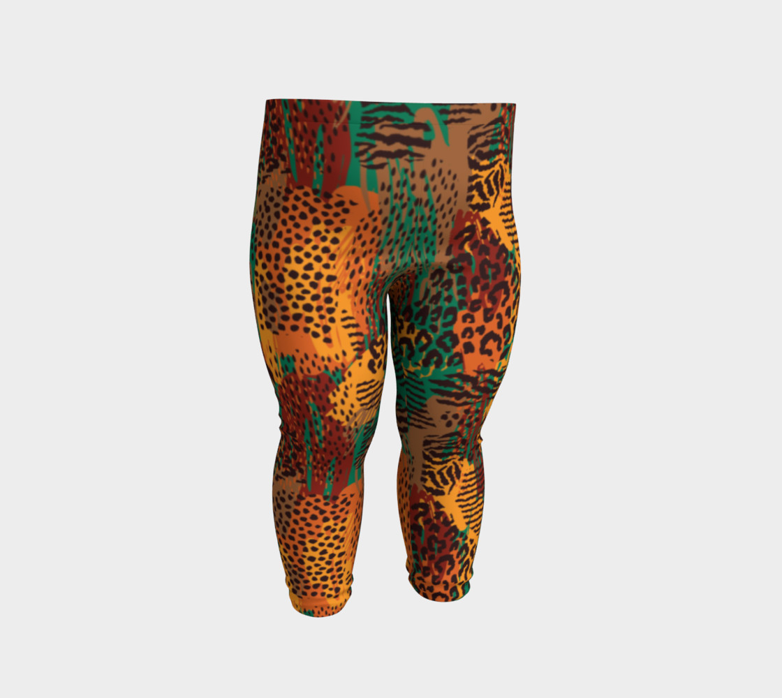 Safari Animal Print Mashup Baby Leggings preview #2