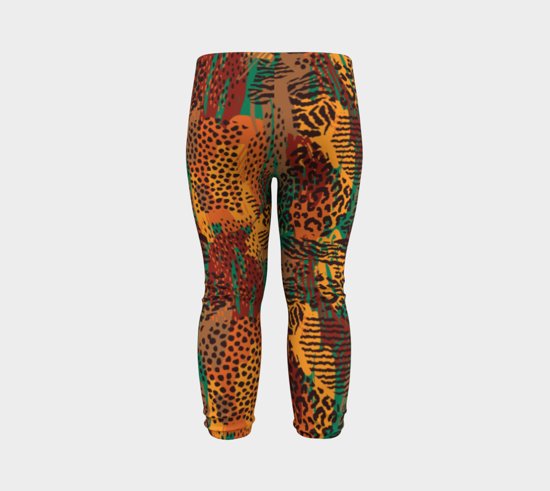Safari Animal Print Mashup Baby Leggings preview #7