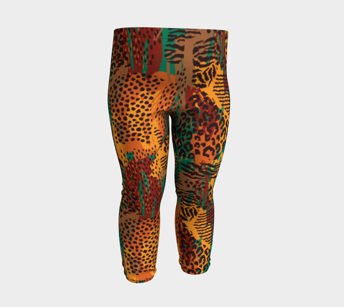 Safari Animal Print Mashup Baby Leggings preview #3