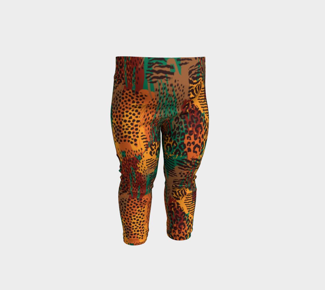 Safari Animal Print Mashup Baby Leggings preview #1