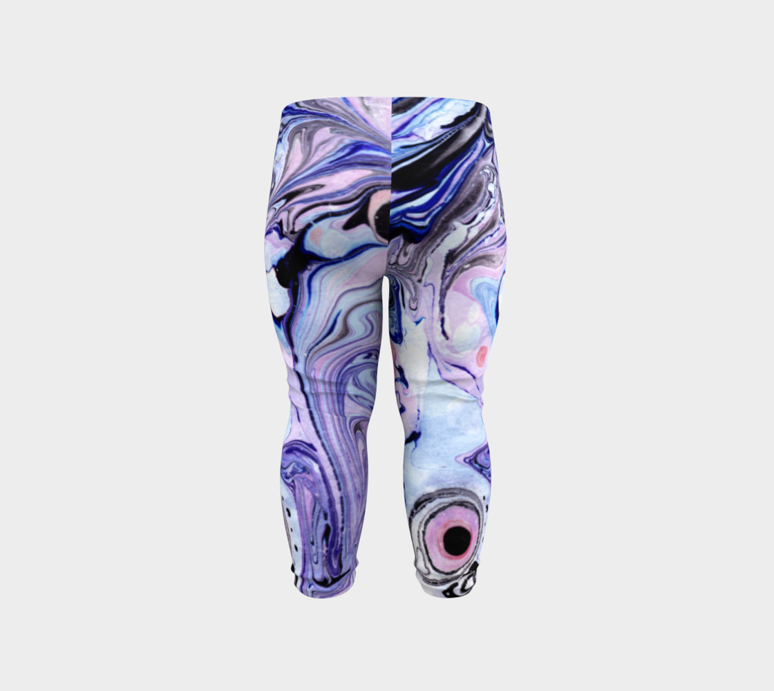 Purple Marble Paint Pink Pattern - Baby Leggings preview #6