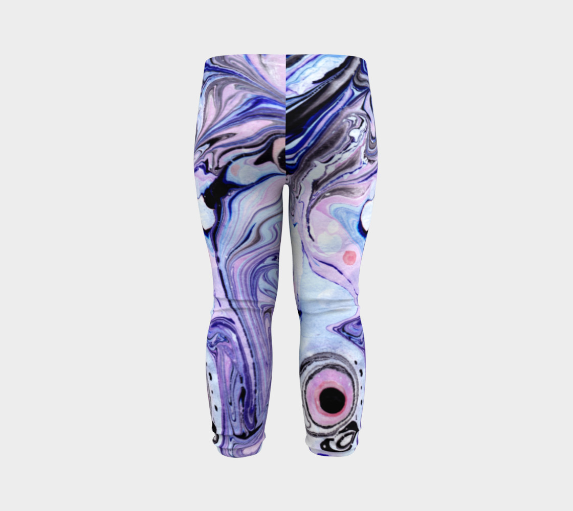 Purple Marble Paint Pink Pattern - Baby Leggings preview #7