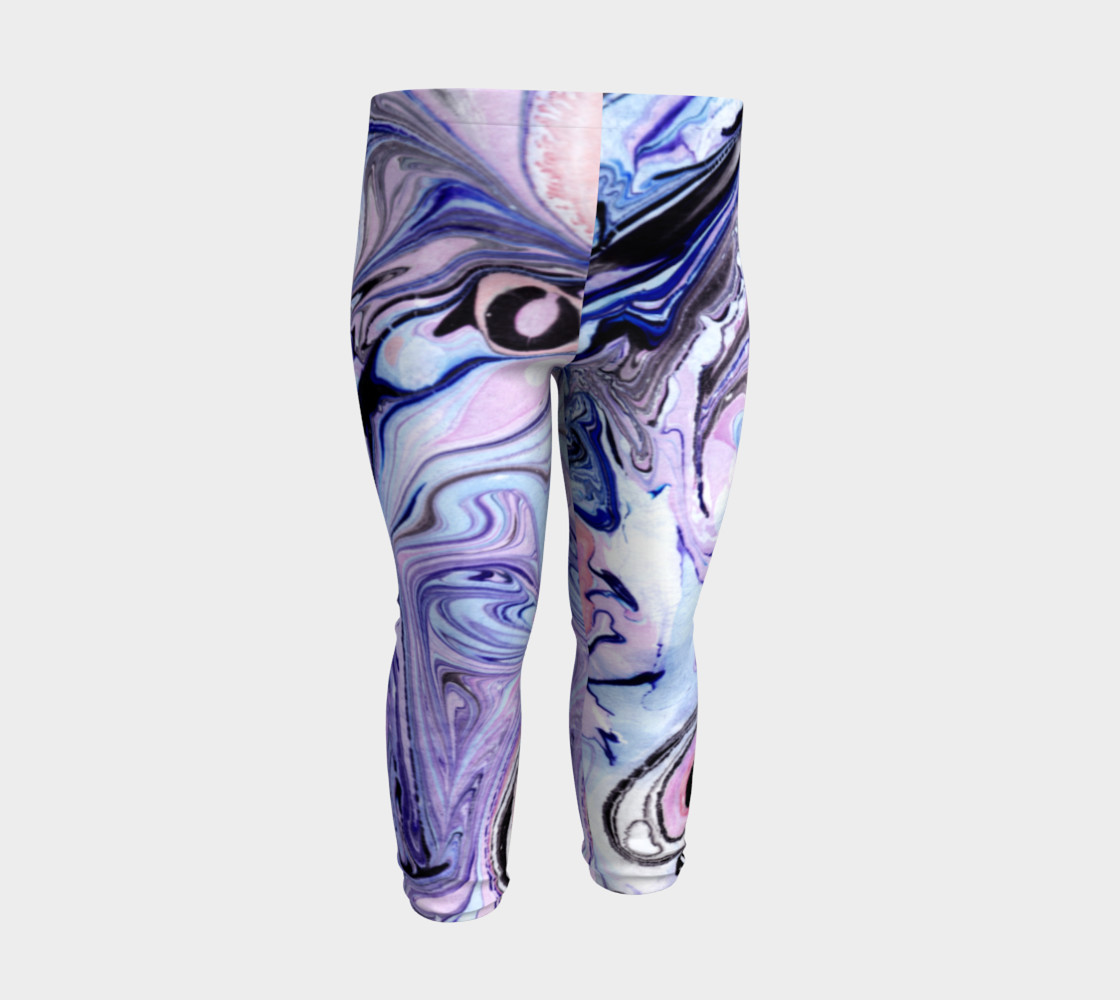 Purple Marble Paint Pink Pattern - Baby Leggings preview #3