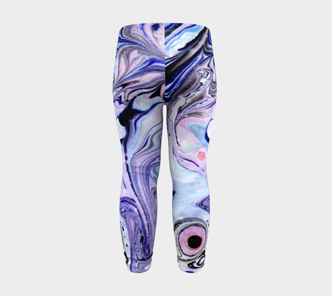 Purple Marble Paint Pink Pattern - Baby Leggings preview #8