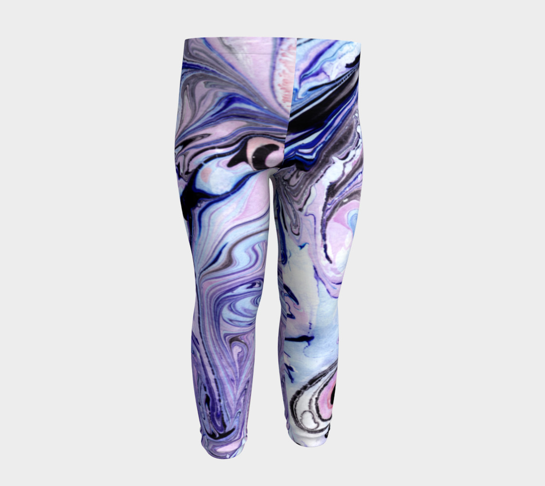 Purple Marble Paint Pink Pattern - Baby Leggings preview #4
