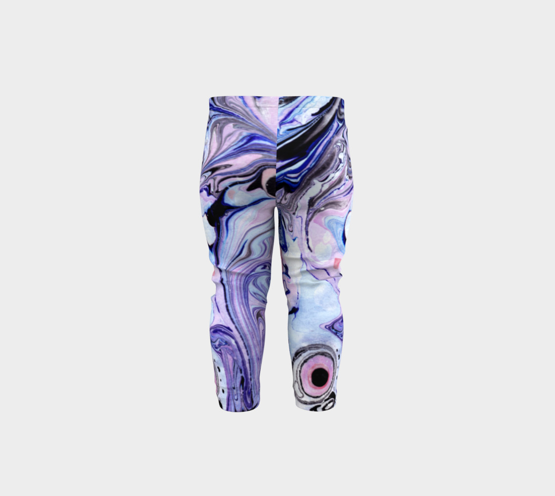 Purple Marble Paint Pink Pattern - Baby Leggings preview #5