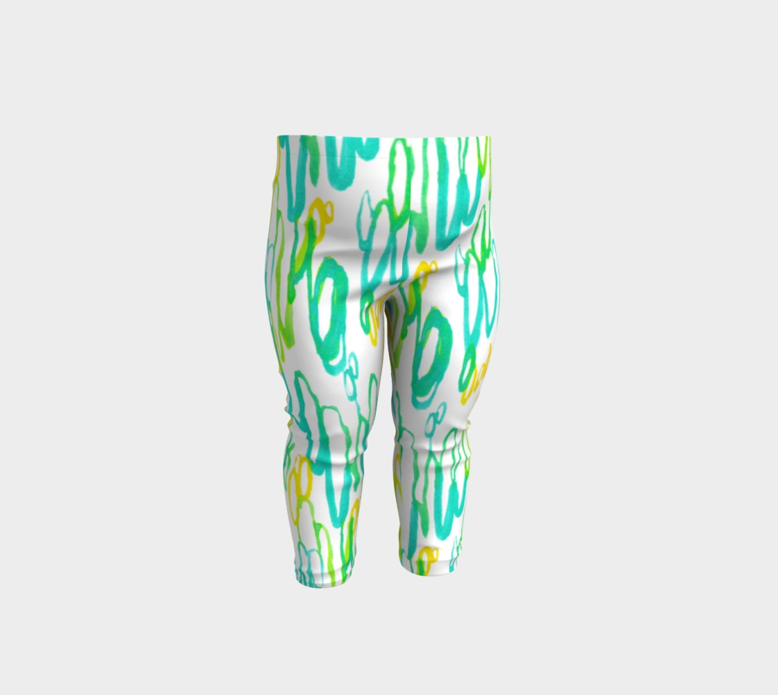 Aqua Green Teal Abstract Pattern - Baby Leggings preview #1