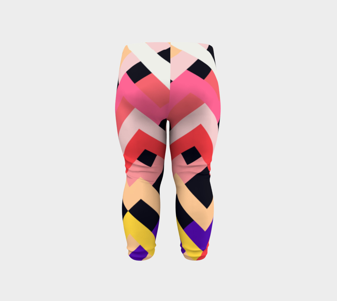 Pink Black Abstract Stripes Pattern - Baby Leggings preview #6
