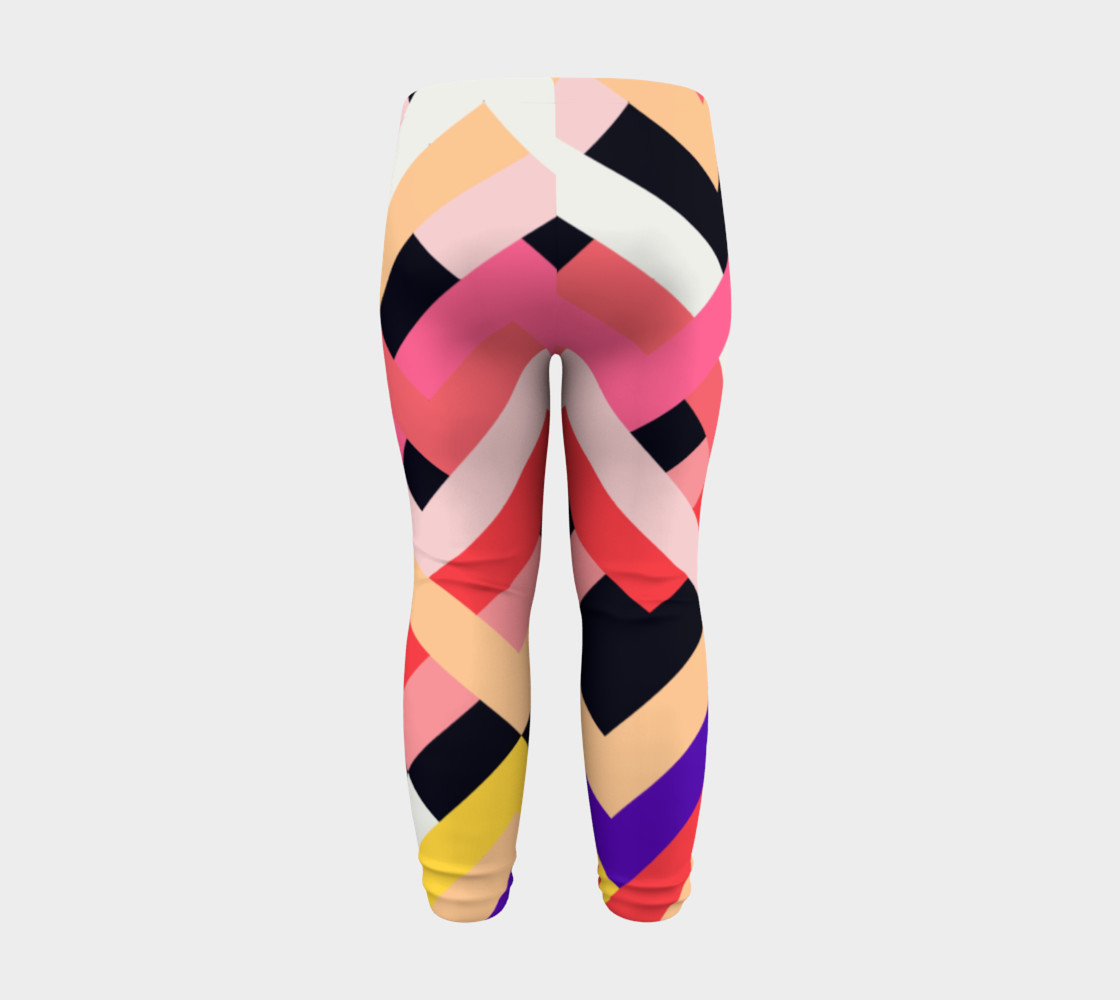 Pink Black Abstract Stripes Pattern - Baby Leggings preview #8