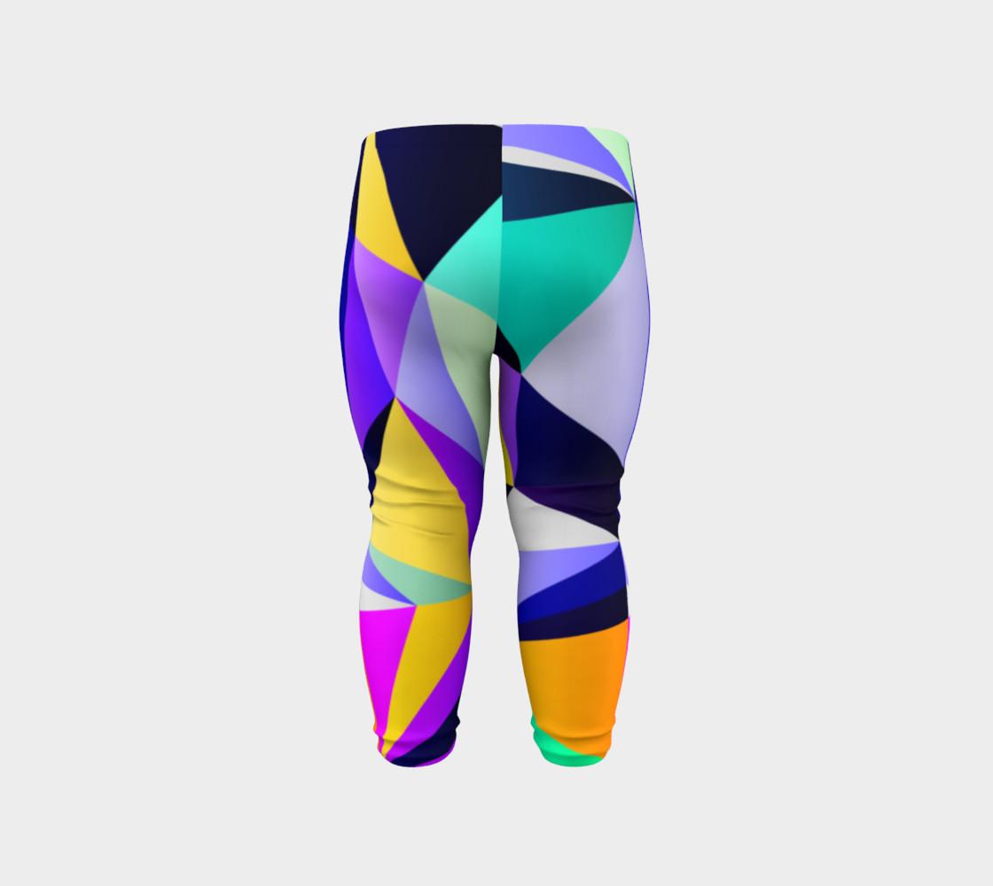 Geometric Polygon Purple Pattern - Baby Leggings preview #6