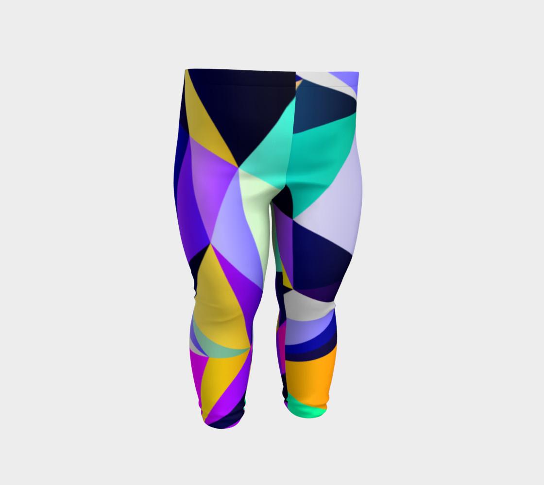 Geometric Polygon Purple Pattern - Baby Leggings preview #2