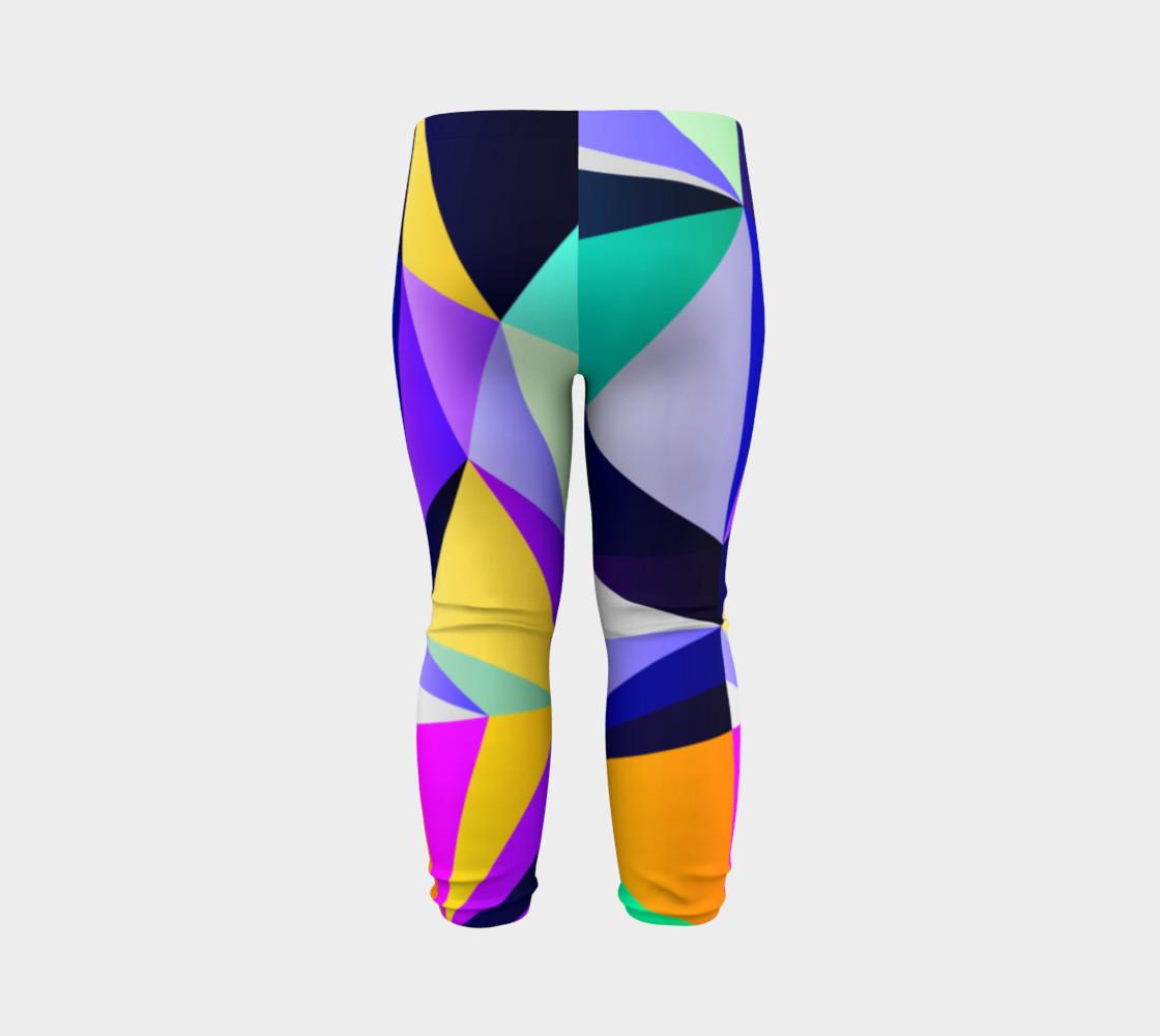 Geometric Polygon Purple Pattern - Baby Leggings preview #7