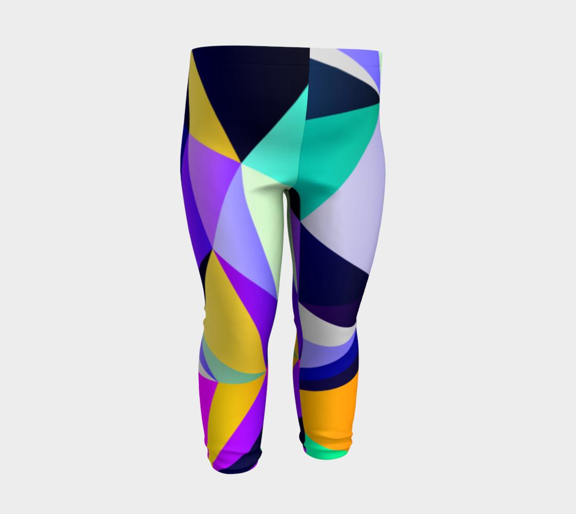 Geometric Polygon Purple Pattern - Baby Leggings preview #3