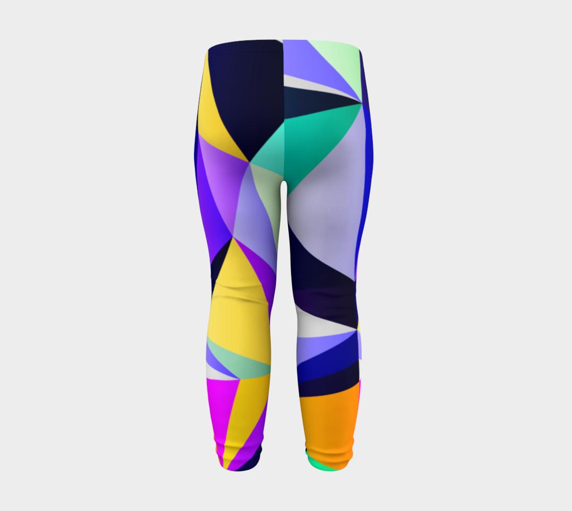 Geometric Polygon Purple Pattern - Baby Leggings preview #8
