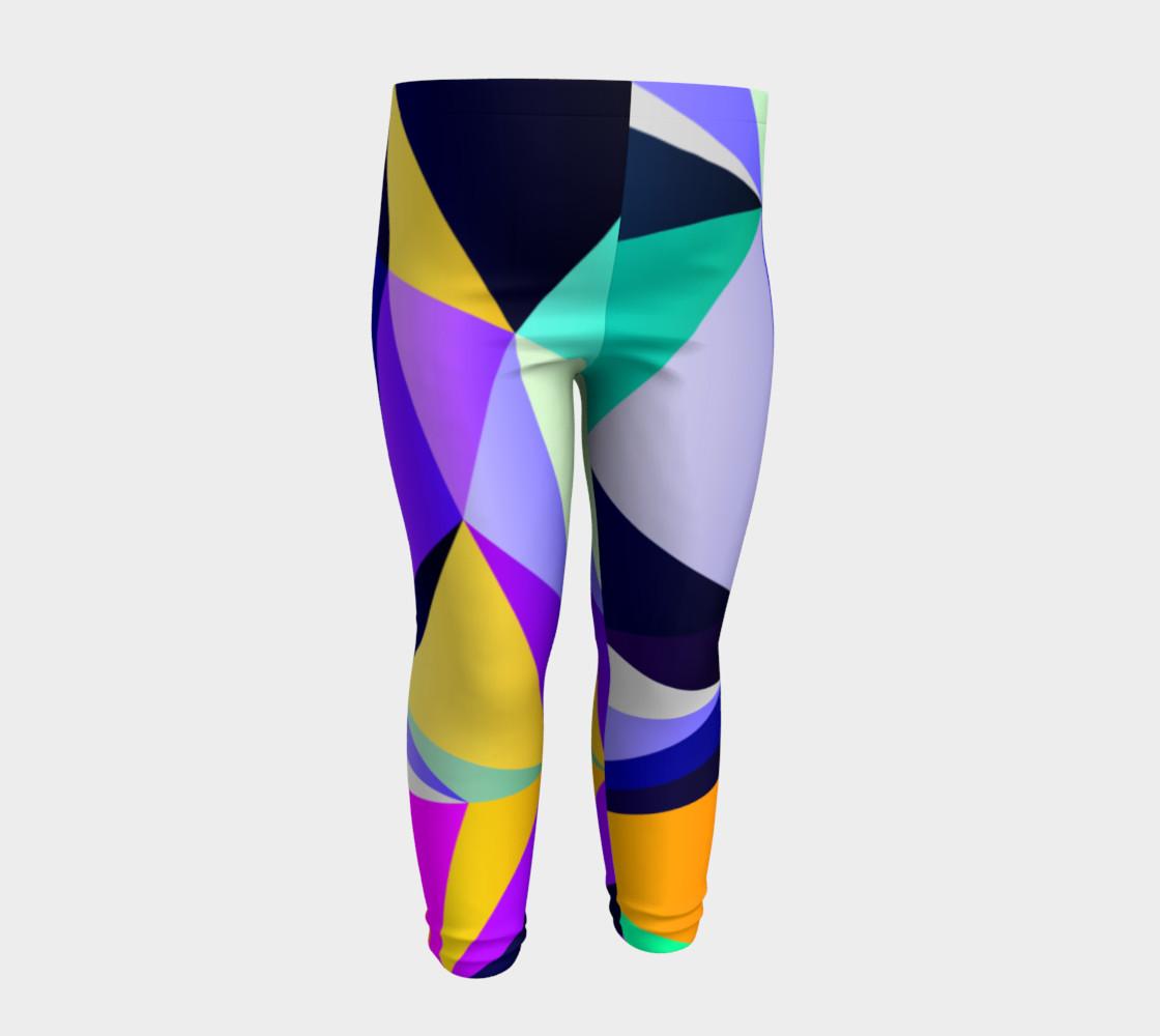 Geometric Polygon Purple Pattern - Baby Leggings preview #4
