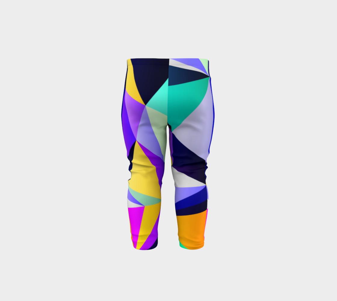Geometric Polygon Purple Pattern - Baby Leggings preview #5