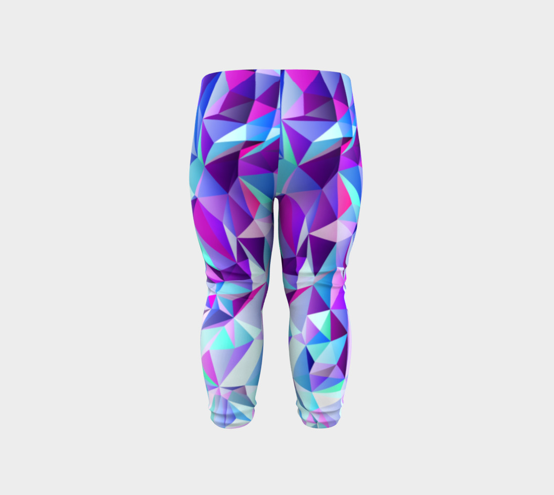 Abstract Geometric Polygon Purple Ombre - Baby Leggings preview #6