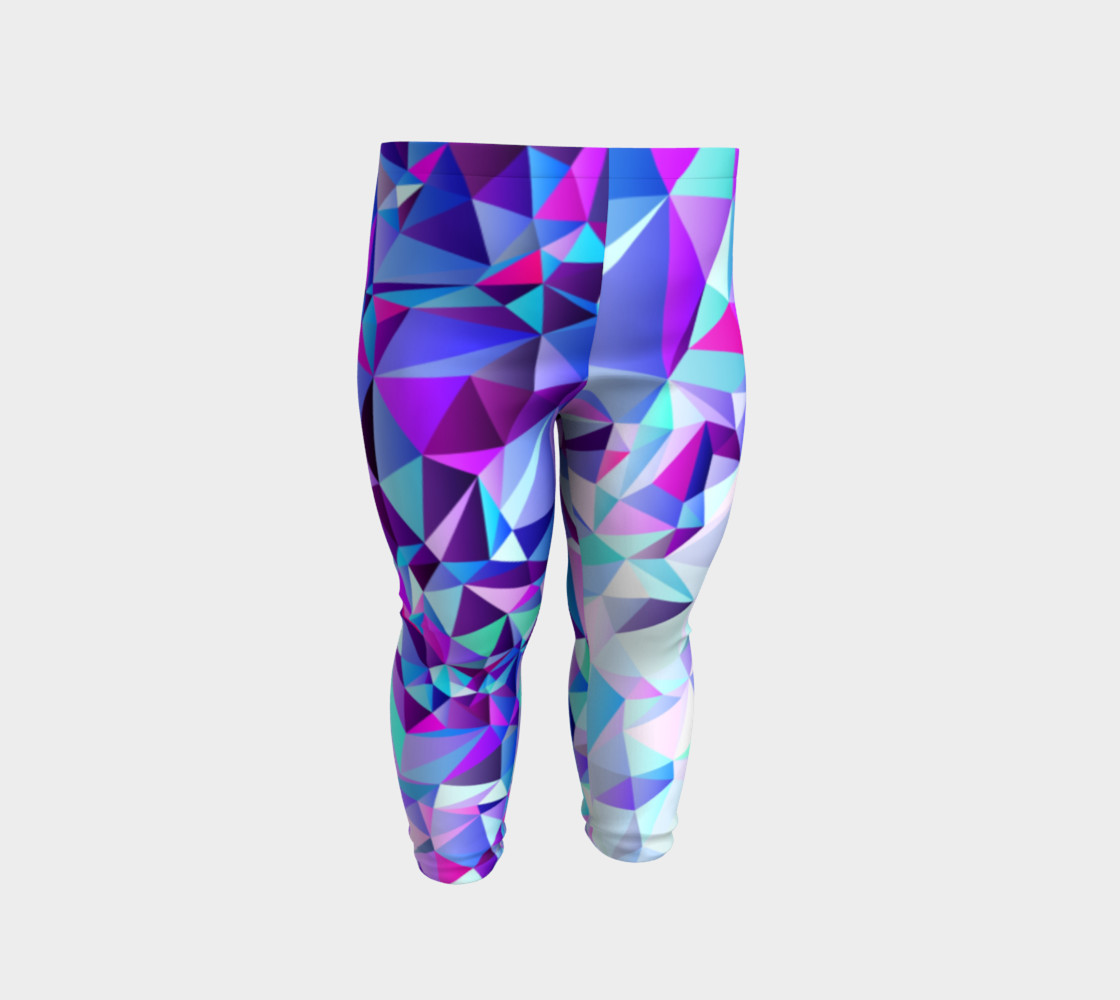 Abstract Geometric Polygon Purple Ombre - Baby Leggings preview #2