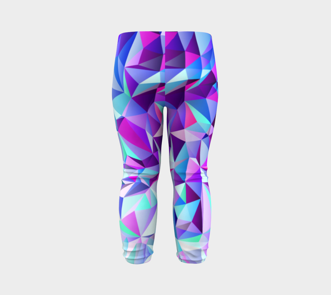 Abstract Geometric Polygon Purple Ombre - Baby Leggings preview #7