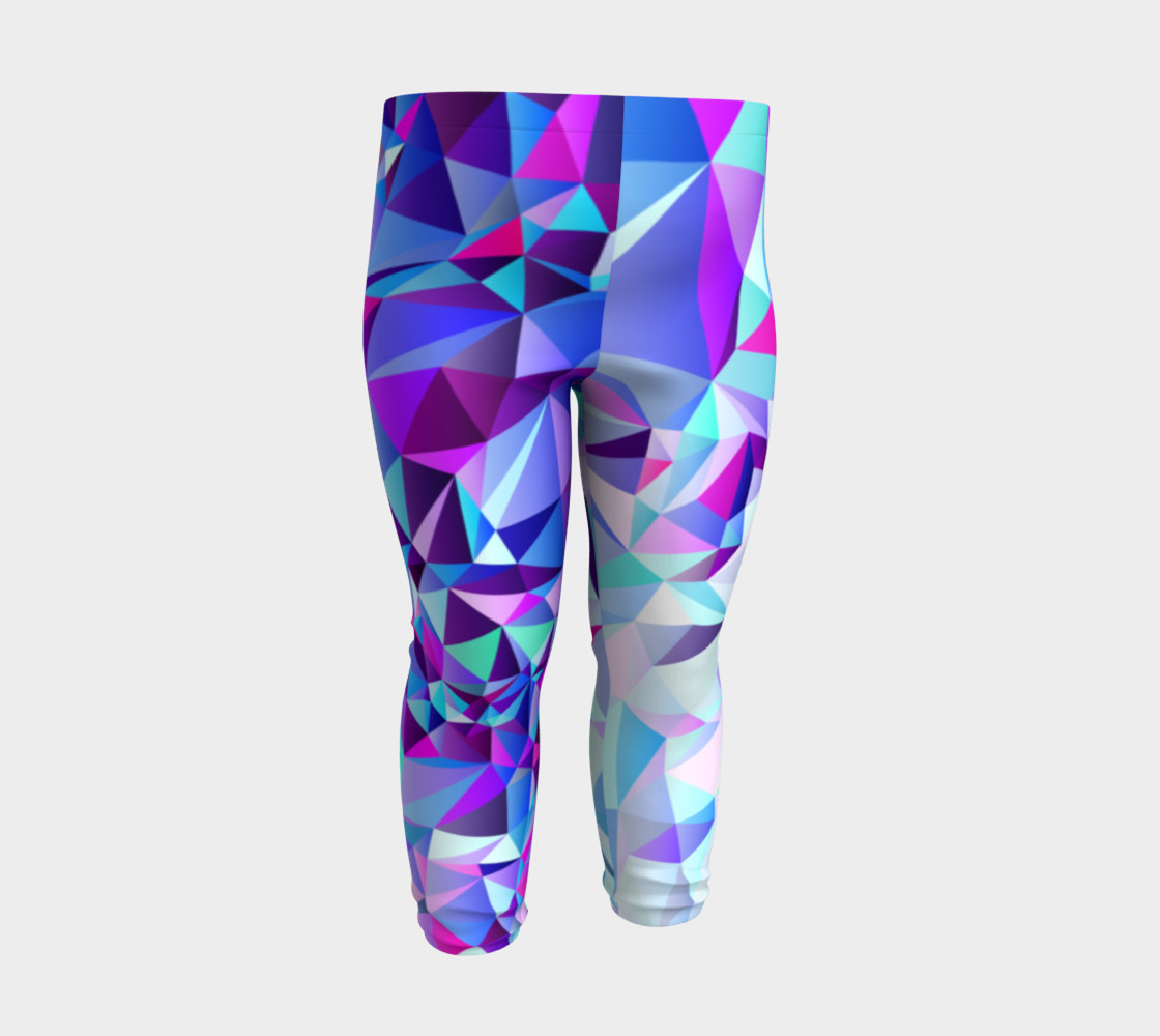 Abstract Geometric Polygon Purple Ombre - Baby Leggings preview #3