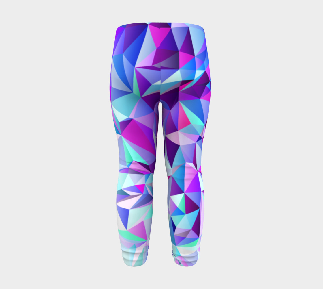 Abstract Geometric Polygon Purple Ombre - Baby Leggings preview #8