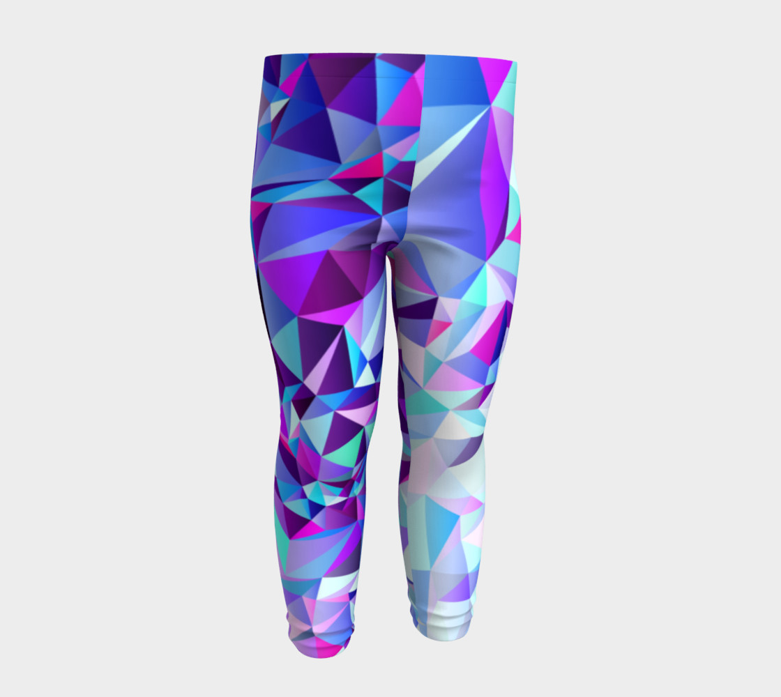 Abstract Geometric Polygon Purple Ombre - Baby Leggings preview #4