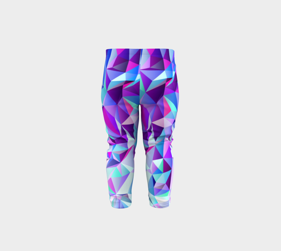 Abstract Geometric Polygon Purple Ombre - Baby Leggings preview #5