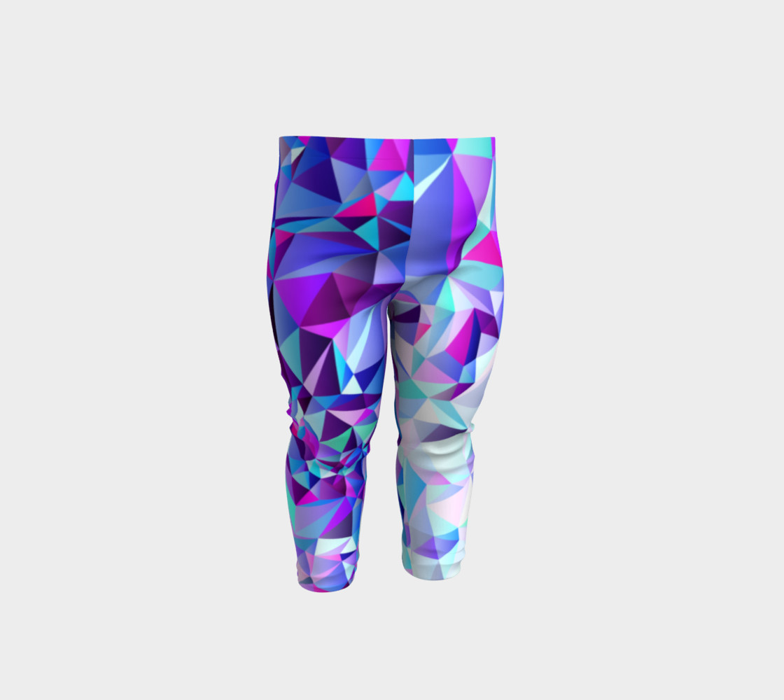 Abstract Geometric Polygon Purple Ombre - Baby Leggings preview #1