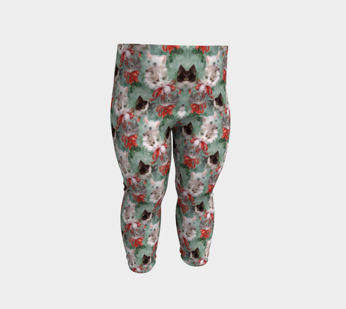 Christmas Kitties Baby Leggings thumbnail #3