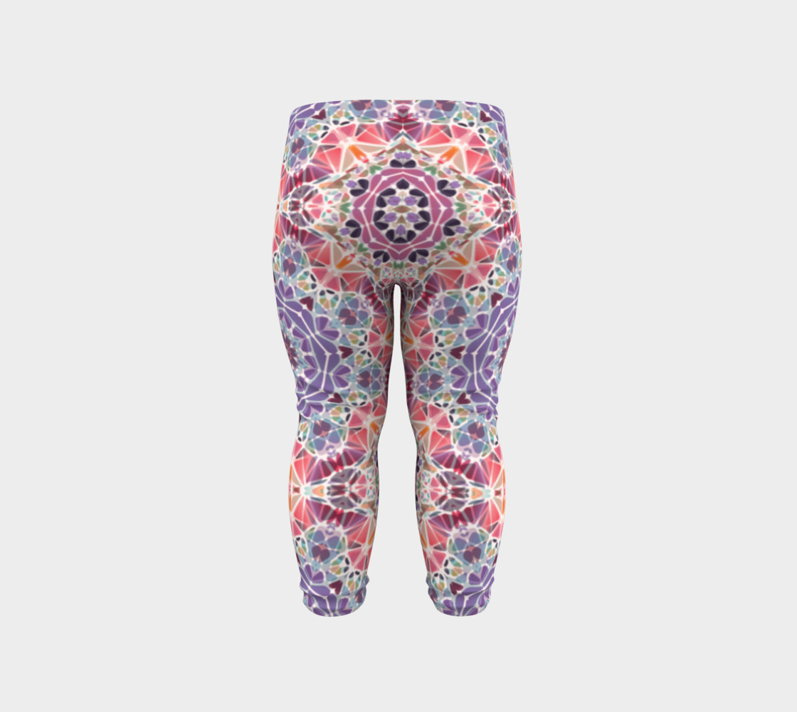 Purple and Pink Kaleidoscope Baby Leggings preview #6