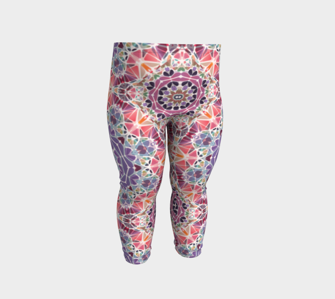 Purple and Pink Kaleidoscope Baby Leggings preview #2