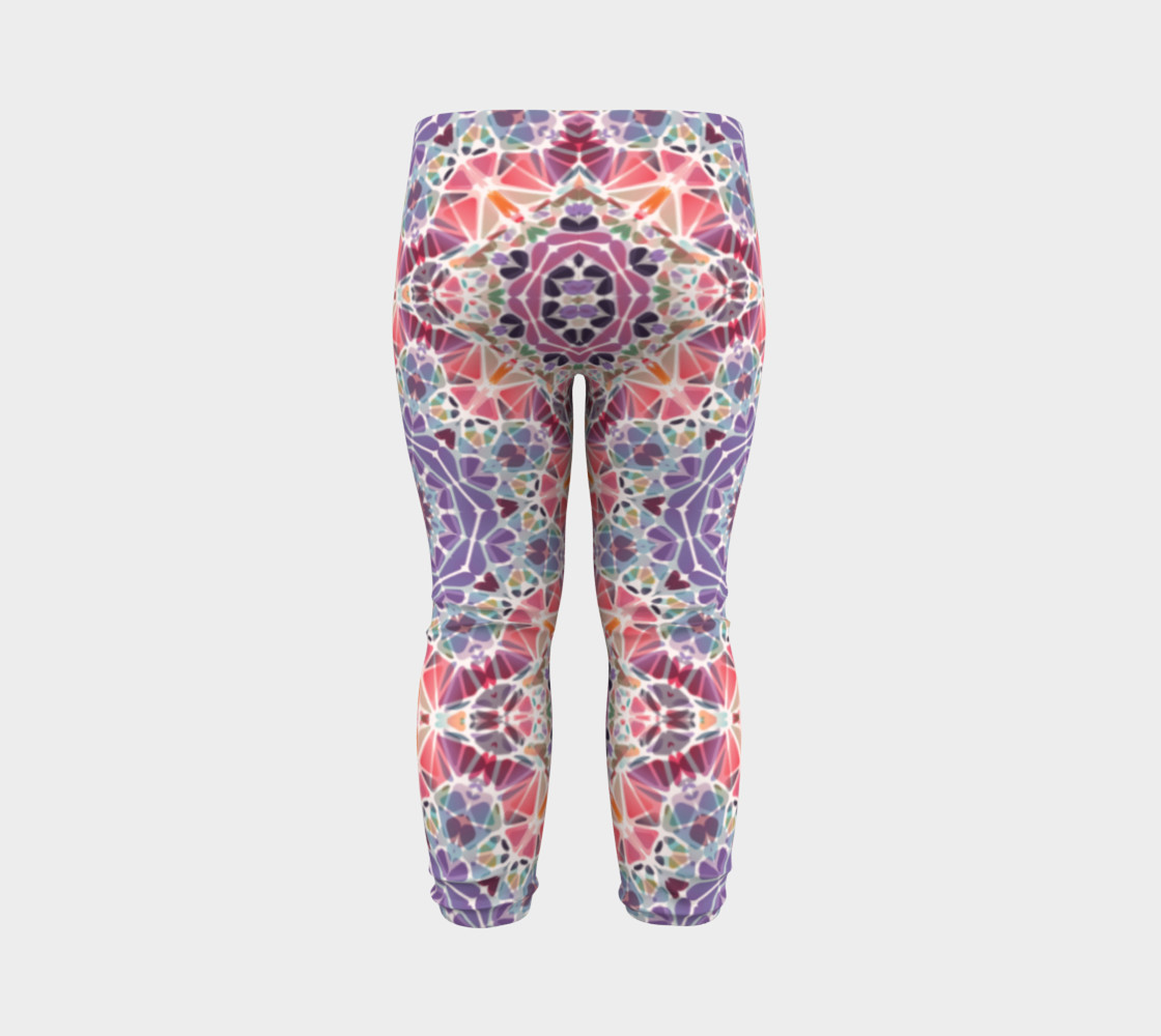 Purple and Pink Kaleidoscope Baby Leggings preview #7