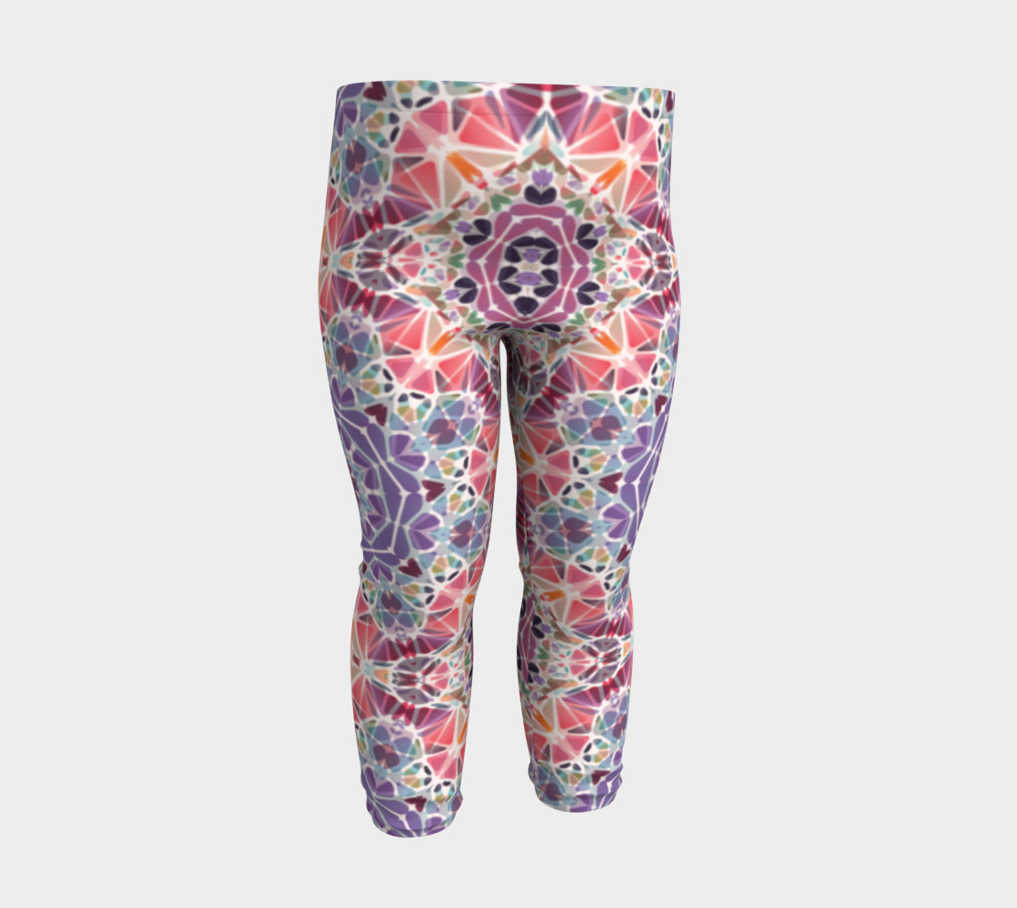 Purple and Pink Kaleidoscope Baby Leggings preview #3