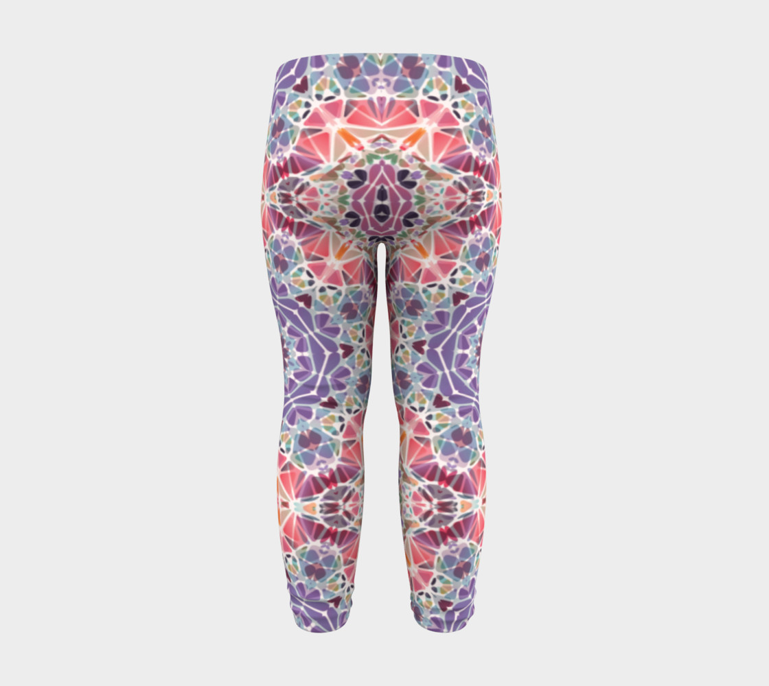 Purple and Pink Kaleidoscope Baby Leggings preview #8