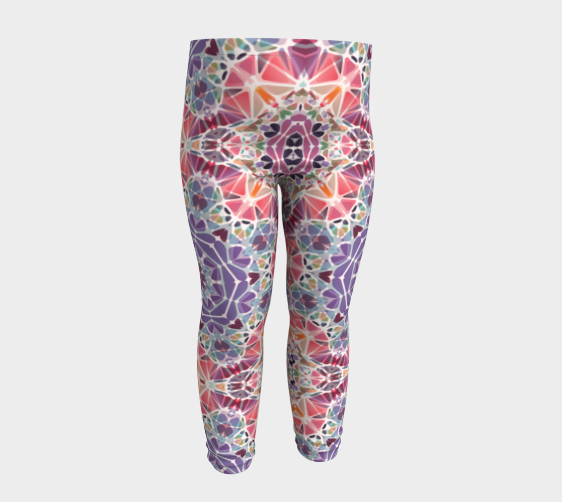 Purple and Pink Kaleidoscope Baby Leggings preview #4