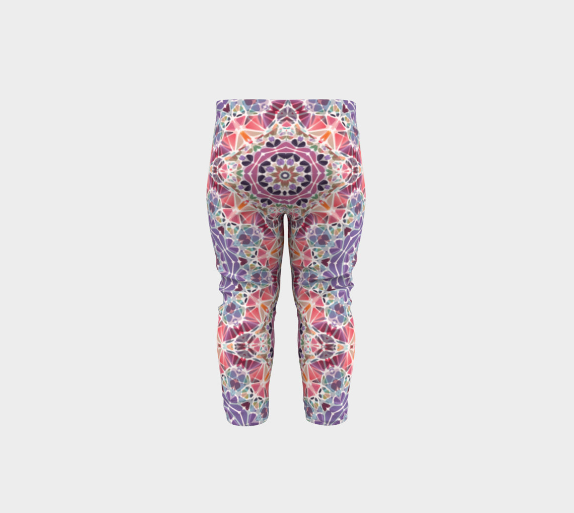 Purple and Pink Kaleidoscope Baby Leggings preview #5