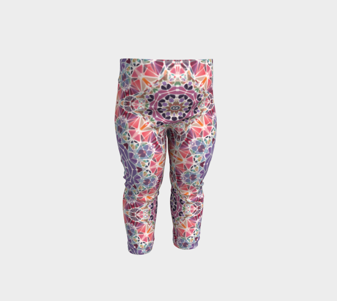 Purple and Pink Kaleidoscope Baby Leggings preview #1