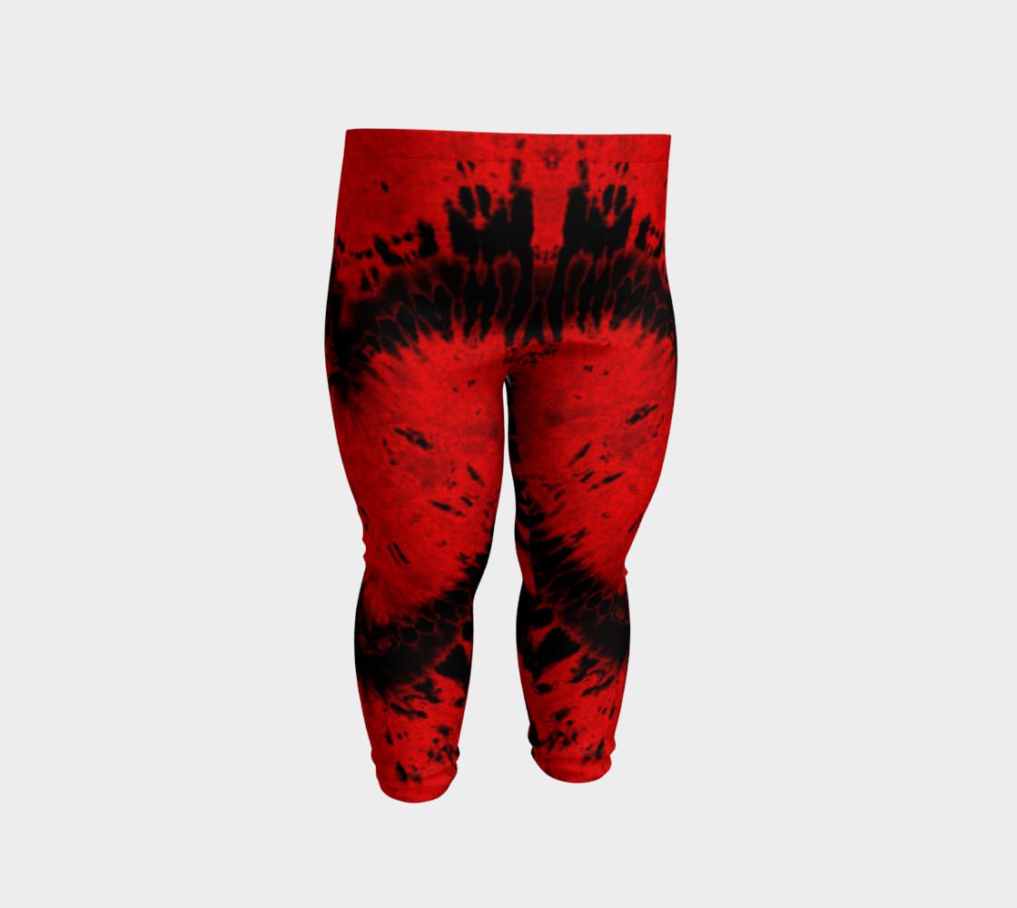 Red Black Heart Baby Leggings preview #2